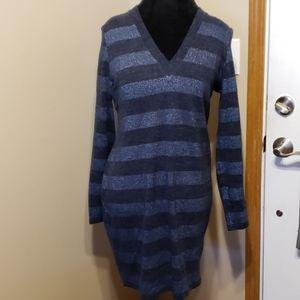 Blue striped Michael kors sweater dress